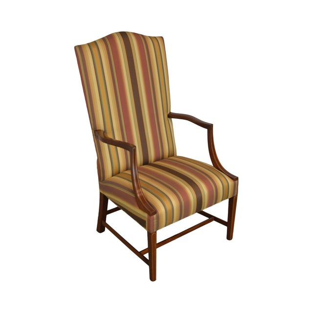 Stickley Colonial Williamsburg Collection Mahogany Martha Washington Lolling Arm Chair For Sale - Image 13 of 13