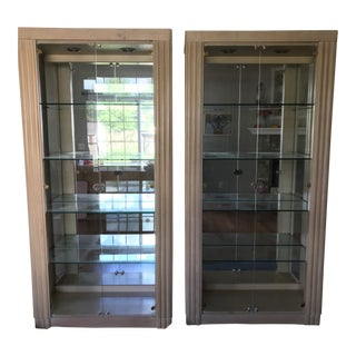 Deco Dining Room China Display Cabinets - A Pair For Sale