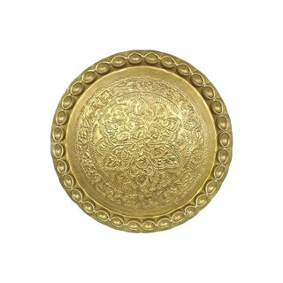 Mid-Century Moroccan Brass Tray