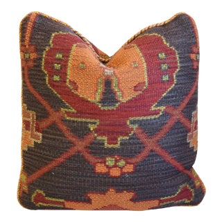 """Designer Ralph Lauren Woven Turkish-Style Feather/Down Pillow 16"""" Square For Sale"""