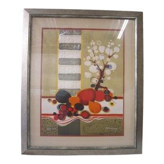 Vintage Framed Lithograph Signed For Sale