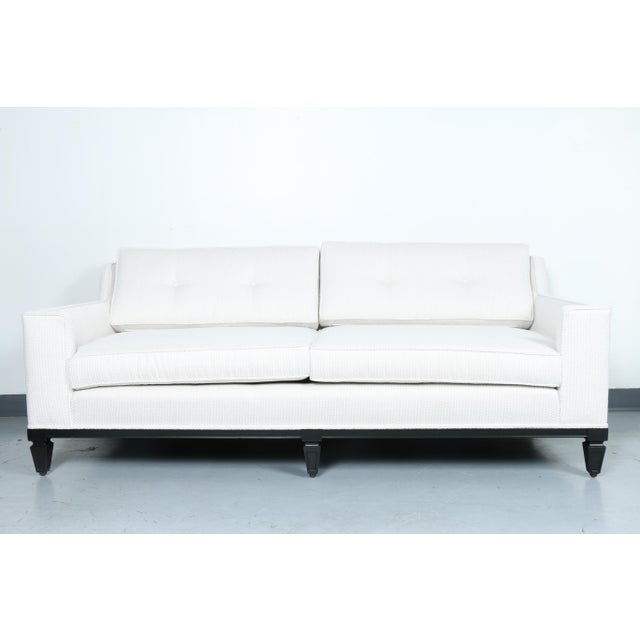 Oriental Style Mid Cemtury Love Seat Sofa For Sale - Image 11 of 11