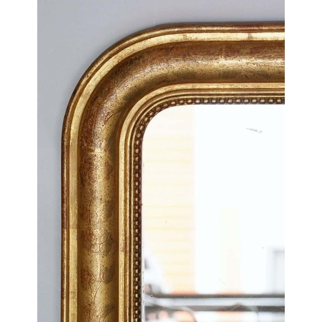 19th Century Large Louis Philippe Arch Top Gilt Mirror For Sale - Image 5 of 13