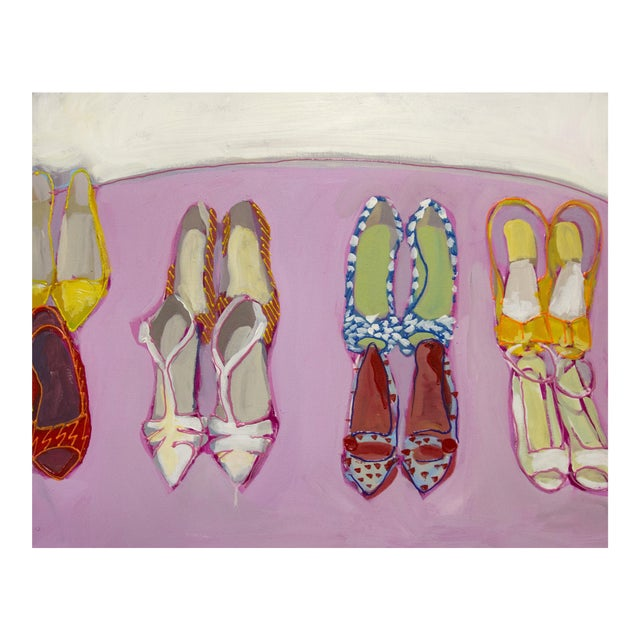 Megan Coonelly Omg Shoes Acrylic Painting - Image 1 of 3