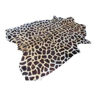 Giraffe Pattern Cowhide Rug - 5′4″ × 7′ For Sale
