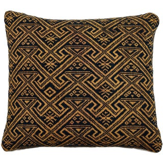 Chinese Hill Tribe Brocade Textile Pillow For Sale