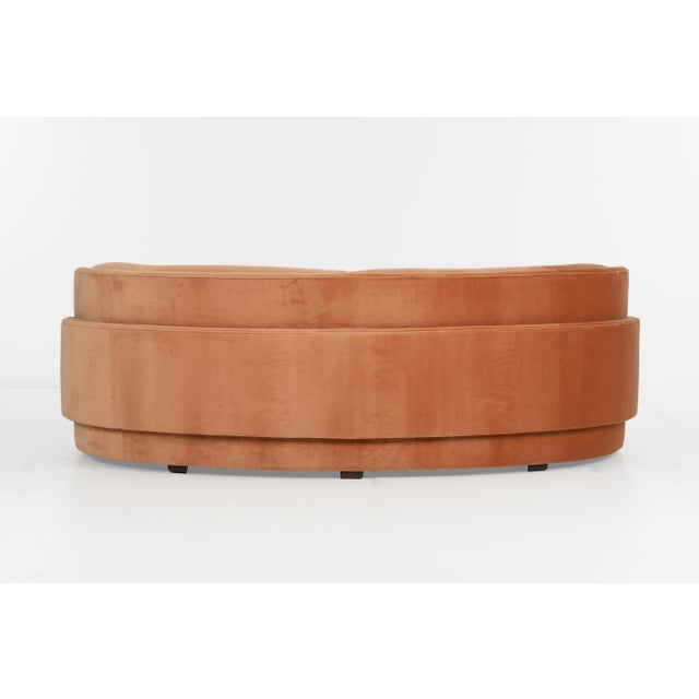1980s Vintage Vladimir Kagan Curved Louvered Sofa for Direcitonal For Sale In Chicago - Image 6 of 10