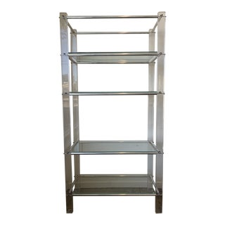 Lucite and Chrome Tube Display & Shelving Unit For Sale