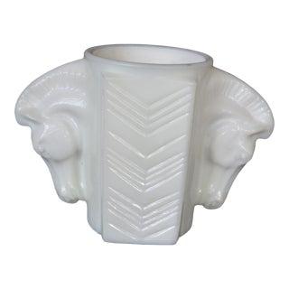 Milk Glass Horse Head Vase