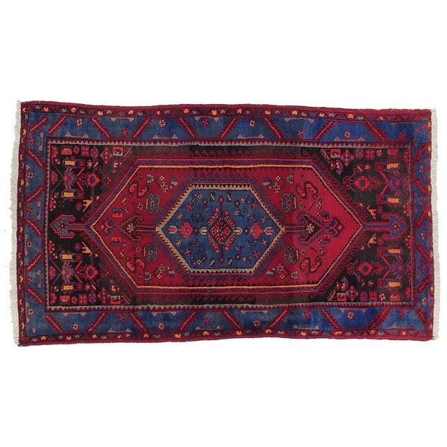 "Vintage Persian Hamadan Rug - 4'4"" X 7'7"" For Sale"