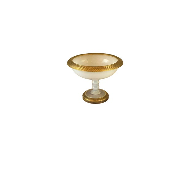 Mid 19th Century Ormolu Gilt Opaline Compote For Sale - Image 5 of 7