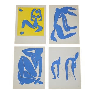 Vintage Mid 20th C. Abstract Lithographs-Henri Matisse-Set of 4 For Sale