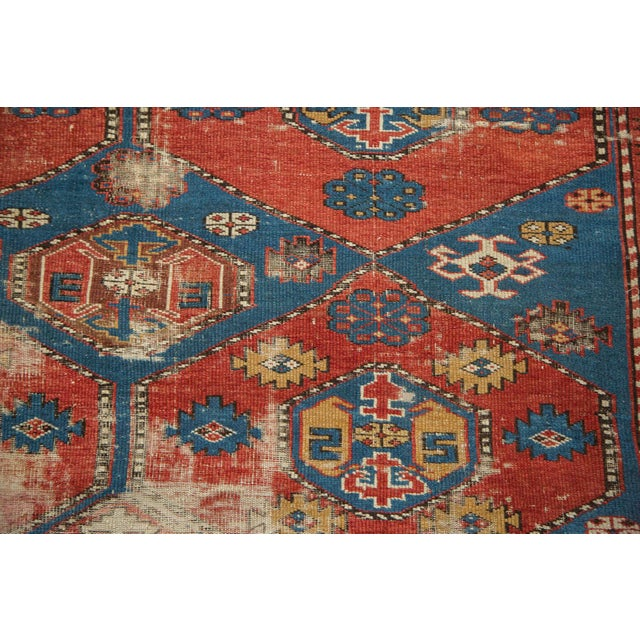 "Antique Shirvan Rug - 4'4"" x 7'8"" For Sale - Image 5 of 11"