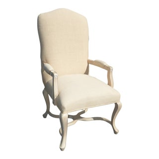 Vintage Kreiss Collection French Country White Accent Arm Chair For Sale