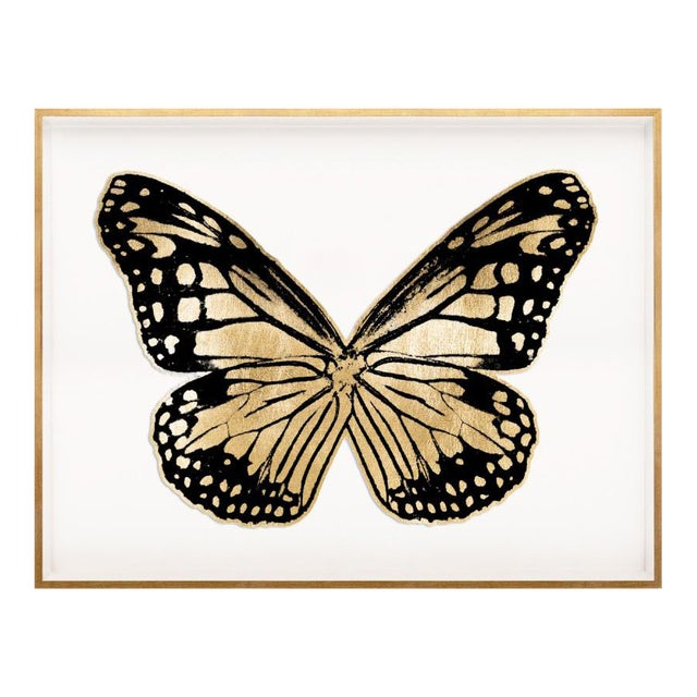 Butterfly Royale, Black 3 Framed Artwork For Sale
