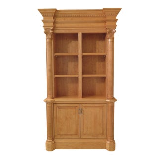 1990s Vintage Custom Made Maple Open Bookcase For Sale