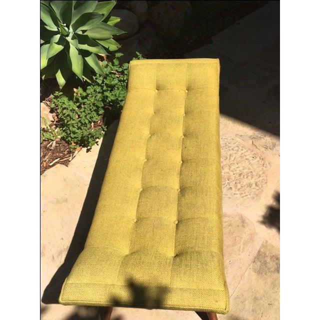 Yellow Jonathan Adler Whitaker Bench in Ochre For Sale - Image 8 of 8