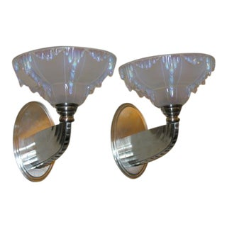 French Art Deco Wall Sconces For Sale