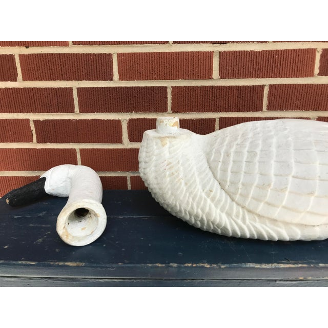 Late 20th Century Paper Mache Swan - Large For Sale - Image 5 of 11