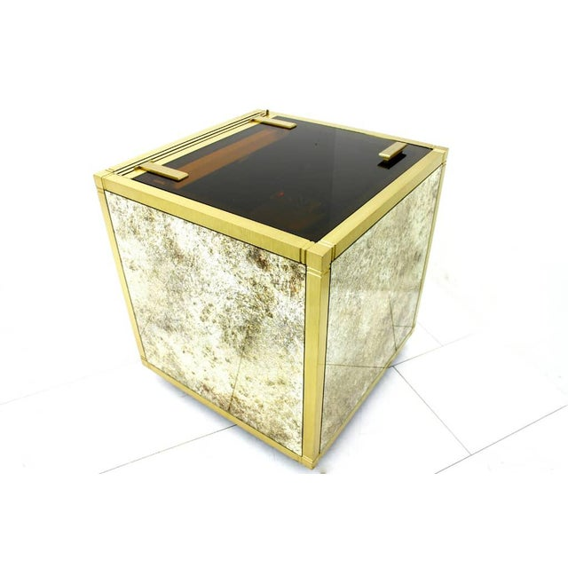 Vodka Bar, Refrigerator, Cooler, Brass and Glass Attributed to Marzio Cecchi For Sale - Image 10 of 10