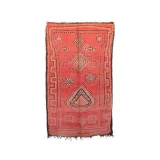 """Boujad Vintage Moroccan Rug, 5'5"""" X 9'0"""" Feet"""