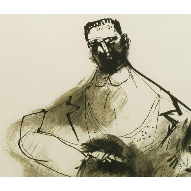 Lacquer Abraham Rattner (1893-1978) Black and White Limited Edition Print, Signed and Numbered For Sale - Image 7 of 7