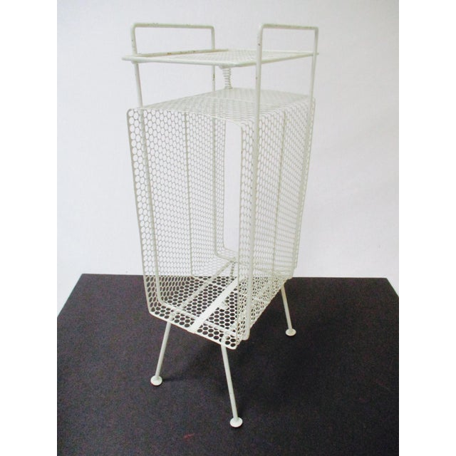 White Metal Telephone Stand / Magazine Holder - Image 2 of 9