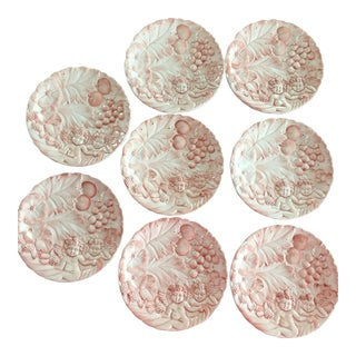 Horchow Pink Cherub & Floral Plates - Set of 8