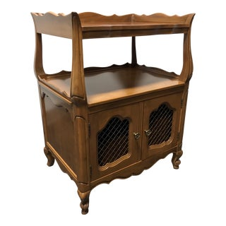 KINDEL Borghese Cherry French Country Style Nightstand / Chairside Table