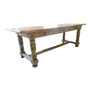 19th C. French Monastery Table For Sale