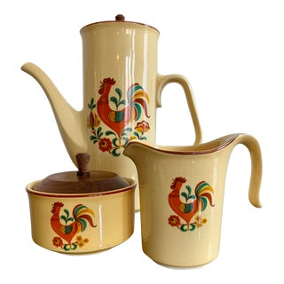 Vintage 'Reveille' Pattern by Taylor, Smith & Taylor Coffee/Tea Serving Set For Sale
