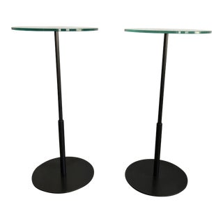 Late 20th Century Glass & Bronze Cocktail Tables - A Pair For Sale