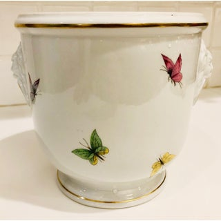 1930s Limoges Butterflies and Lion's Head Cachepot Preview