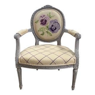 Early 20th Century French Louis XVI Armchair For Sale