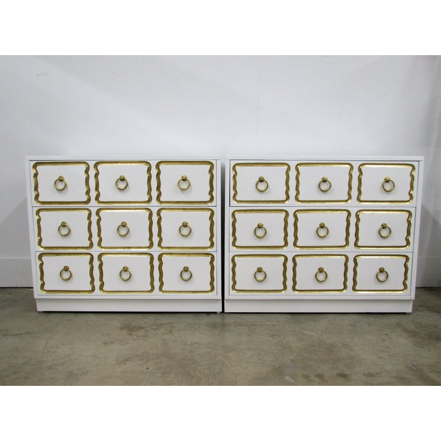 Pair of Chests in the Manner of Dorothy Draper España Collection for Heritage For Sale - Image 12 of 12