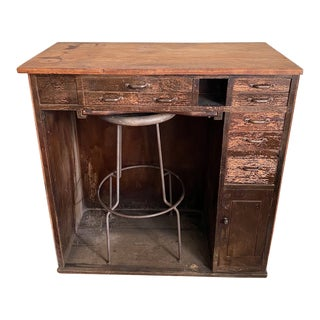 Vintage 19th Century Industrial Jewelers Desk For Sale