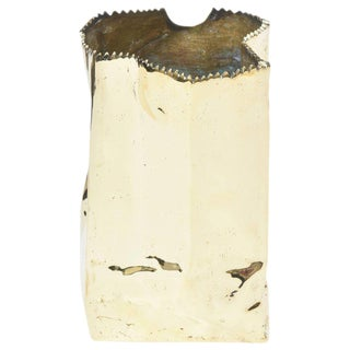 French Hallmarked Limited Edition Brass/ Bronze Crushed Paper Bag Sculpture For Sale