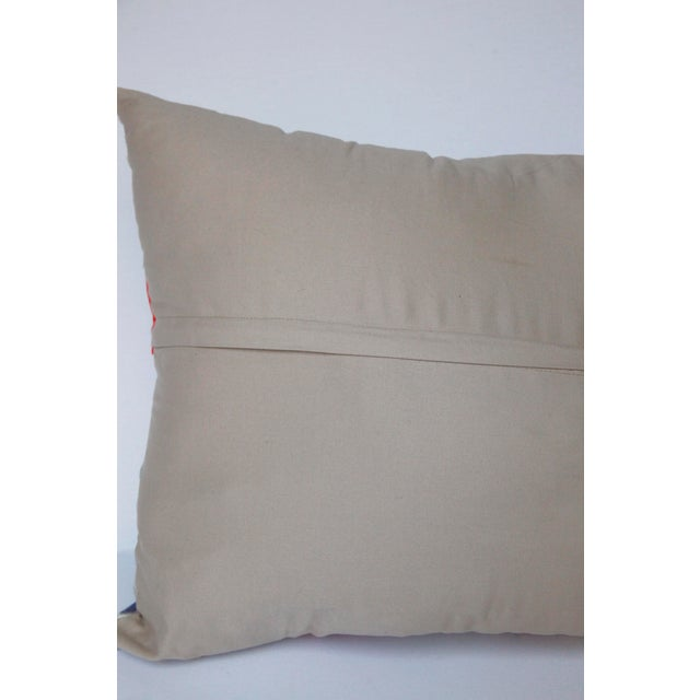 1970s Boho Chic Decorative Needlework Throw Sofa Pillow Cover For Sale - Image 4 of 12