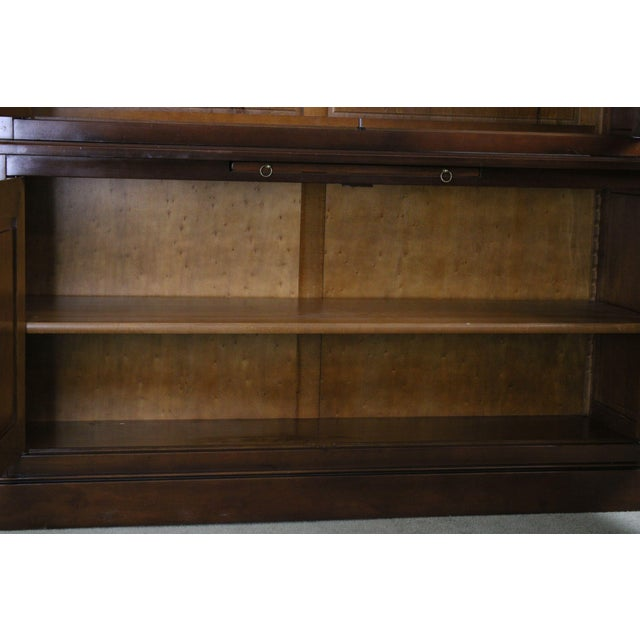 Grange French Cherry Louis Philippe Style Bookcase Cabinet For Sale In Philadelphia - Image 6 of 13