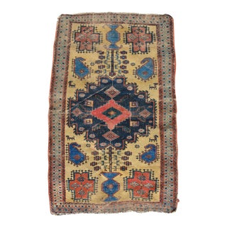 "Antique Persian Afshar Tribal Rug - 3'8"" x 5'10"""