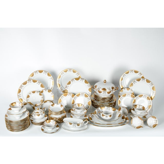 Antique West Germany Dinnerware Service for Ten For Sale In New York - Image 6 of 6