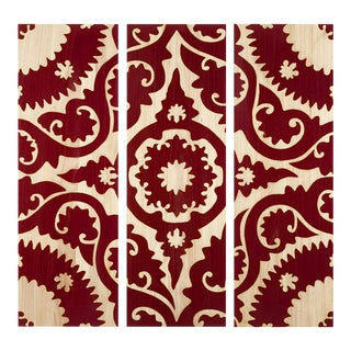 Suzani Panels (Set of 3) - Rust