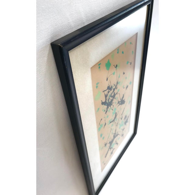 Mid-Century Modern Mid-Century Modern Splatter Painting on Paper For Sale - Image 3 of 10