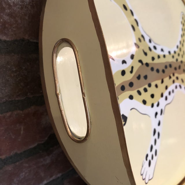Dana Gibson Dana Gibson Oval Leopard Tray For Sale - Image 4 of 6