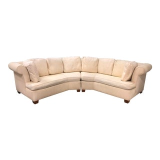 Custom Two Piece Curved Sofa For Sale