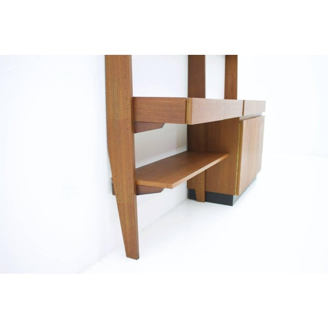 Dieter Waeckerlin Dieter Waeckerlin Shelf System Wall Unit in Teak Wood, Behr Germany, 1950s For Sale - Image 4 of 11
