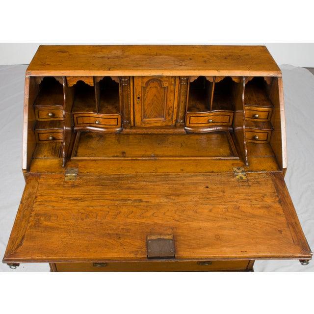 19th Century Victorian Period Light Oak Slant Front Bureau Secretary Desk For Sale - Image 10 of 13