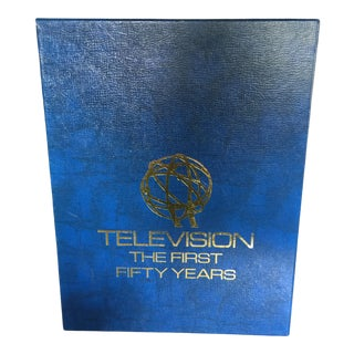 """Book - Royal Blue Covered """"Television - the First Fifty Years"""" Book For Sale"""