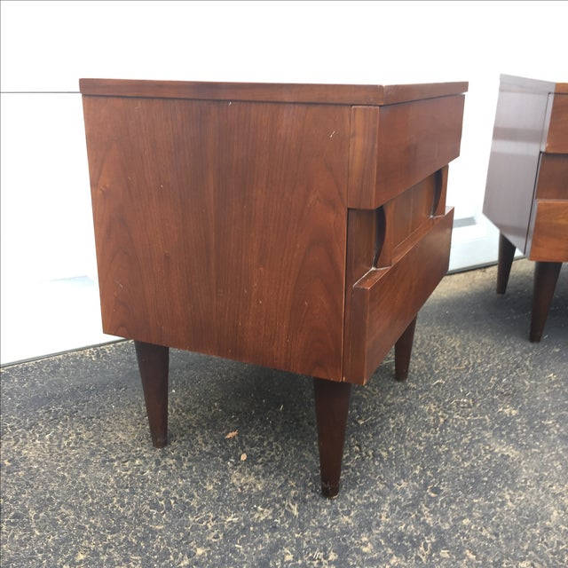 Mid-Century Modern Nightstands - A Pair - Image 7 of 10