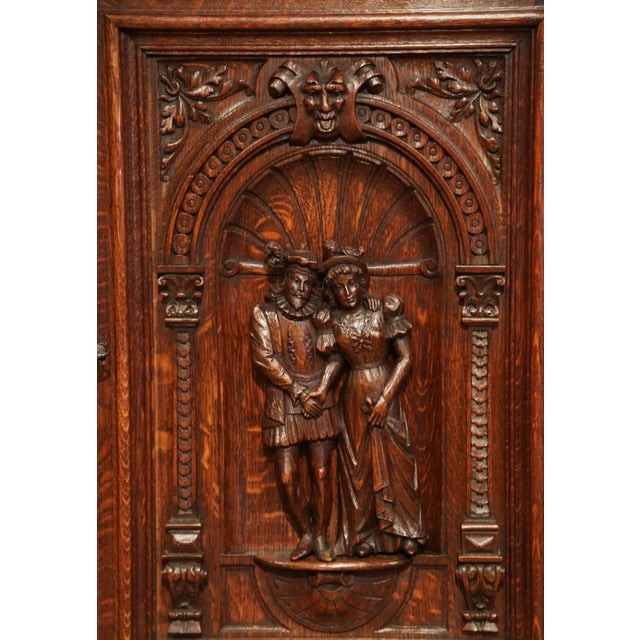Carved in France, circa 1860, this carved, oak cabinet door is a versatile piece that could be hung on the wall as a piece...